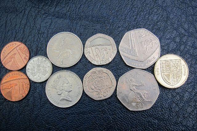 Gültige Englische Münzen