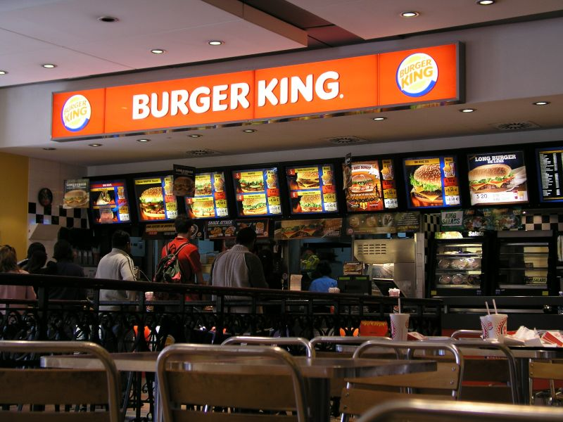 Burger King an der Via del Tritone in Rom