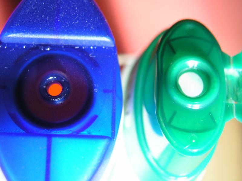 Öffnungen von Shampoo Flaschen