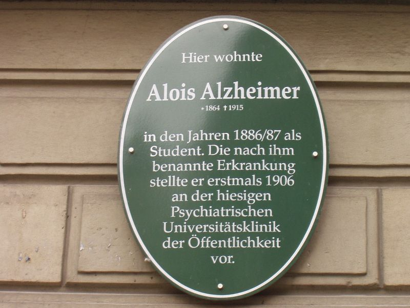 Alzheimer Gedenktafel in der Hafengasse in Tübingen