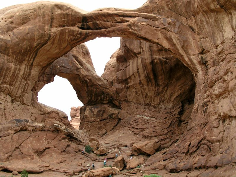 Double Arch im Arches National Park Utah